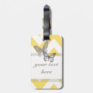 Chevron Butterflies Luggage Tag