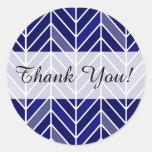 Chevron Cantilevered le agradece los azules Etiquetas Redondas