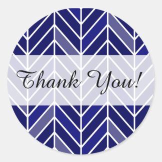 Chevron Cantilevered le agradece los azules Pegatina Redonda