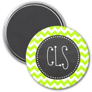 Chevron chartreuse; Mirada de la pizarra Iman