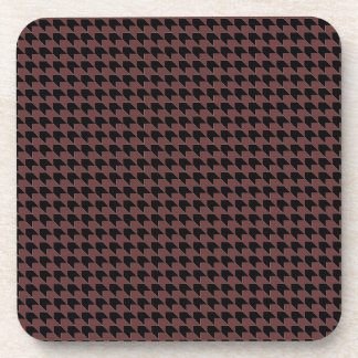 Chevron Checks Brown and Black Beverage Coaster