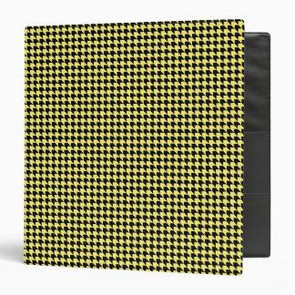 Chevron Checks Yellow and Black Binder