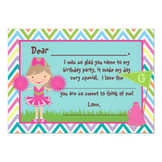 Chevron Cheer Flat Thank You Notes 5x7 Paper Invitation Card