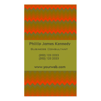 Chevron Chemical Green W Appointment Business Cards
