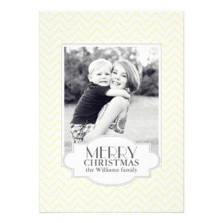 Chevron Christmas Card Custom Invites