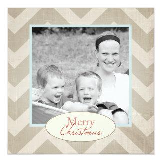 Chevron Christmas Card with photo