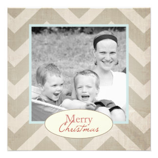 Chevron Christmas Card with photo Announcements