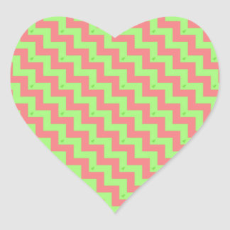Chevron Christmas Pastel Heart Sticker
