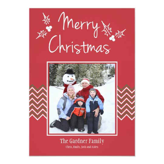 Chevron Christmas Photo Card