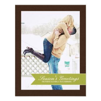 Chevron Christmas Photo Cards Invite