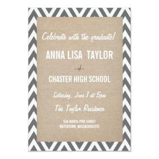 """Chevron Class of 2015 Graduation 2015 Invite 5"""" X 7"""" Invitation Card"""