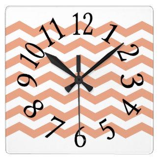 Chevron Clock Design