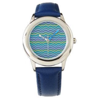 Chevron coloreado y acodado multi relojes de mano