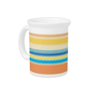 Chevron Colorful Zigzag Stripe Decorative Drink Pitcher
