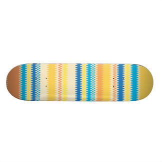 Chevron Colorful Zigzag Stripe Decorative Skateboard
