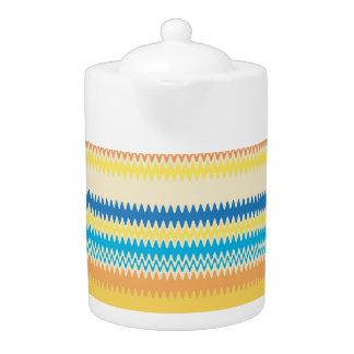Chevron Colorful Zigzag Stripe Decorative Teapot