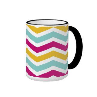 Chevron colorido taza de café