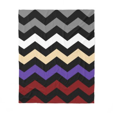 Beach Themed Chevron Colour Combination Fleece