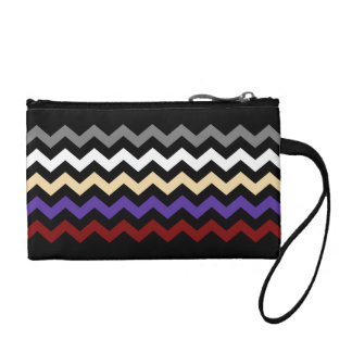 Chevron Colour Combination Mini Clutch/Bag Change Purse