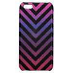 Chevron con púrpura azul y negro rosados
