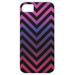 Chevron con púrpura azul y negro rosados iPhone 5 Case-Mate fundas
