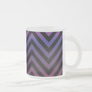 Chevron con púrpura y negro rosados tazas de café
