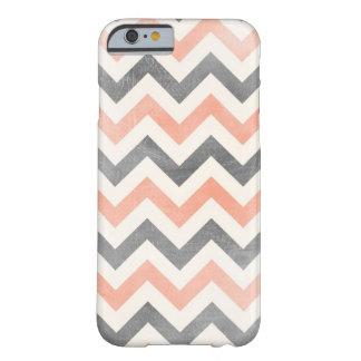 Chevron coral grey geometric iPhone 6 case