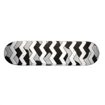 Chevron Cow Black and White Skateboard Deck