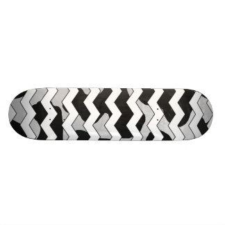 Chevron Cow Black and White Skateboard Deck