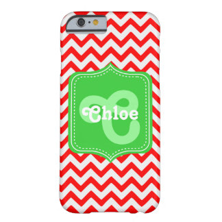 Chevron Custom Monogram Chloe Barely There iPhone 6 Case