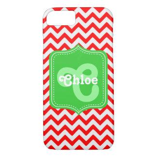 Chevron Custom Monogram Chloe iPhone 8/7 Case
