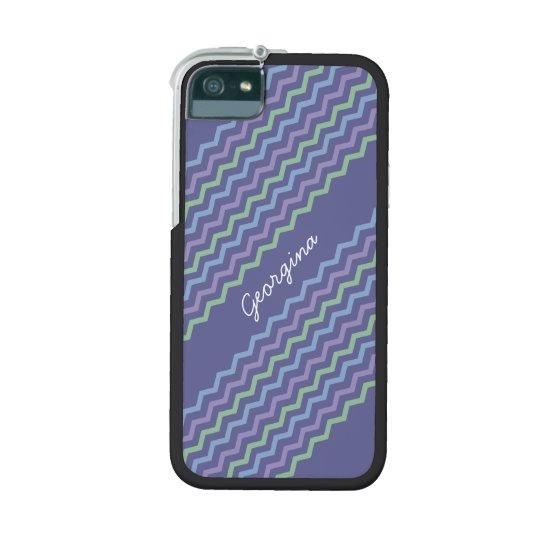Chevron Diagonal Zigzags Trio Spring Colors Case For iPhone SE/5/5s