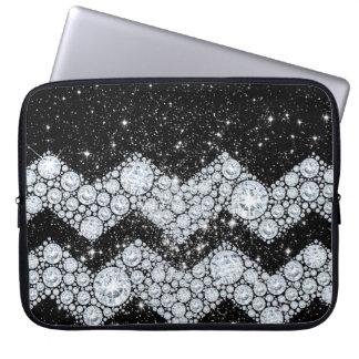 CHEVRON Diamonds and Stars Laptop Computer Sleeve