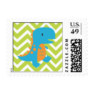 Chevron Dinosaur Stamp