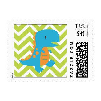 Chevron Dinosaur Stamp