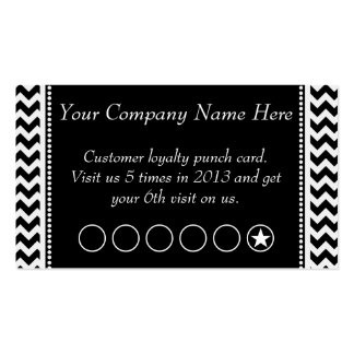 Chevron Discount Promotional Punch Card Double-Sided Standard Business Cards (Pack Of 100)