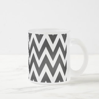 Chevron Dreams black and white frosted glass Frosted Glass Coffee Mug