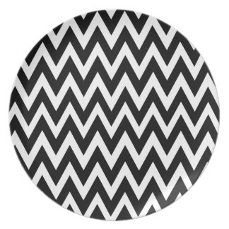 Chevron Dreams black and white Party Dinner Plate