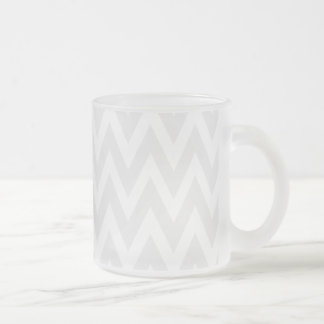Chevron Dreams smoke chevron frosted glass Frosted Glass Coffee Mug