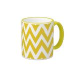 Chevron Dreams yellow and white chevron Coffee Mug