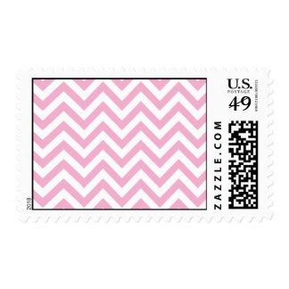 Chevron dulce rosado personalizado timbres postales