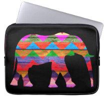 Chevron Elephant Pattern Laptop Sleeve