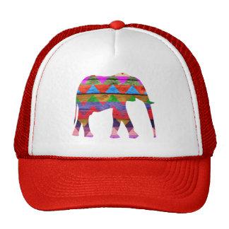 Chevron Elephant Pattern Trucker Hat