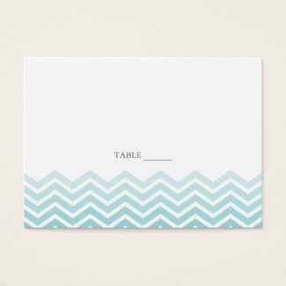 Chevron FLAT Placecards Business Card