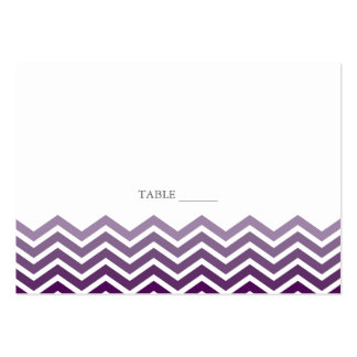 Chevron FLAT Placecards Large Business Cards (Pack Of 100)