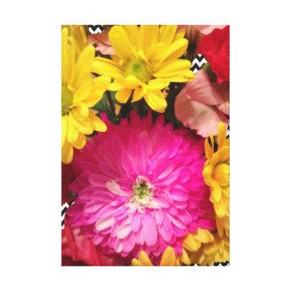 Chevron Floral art print by Lisa Casineau