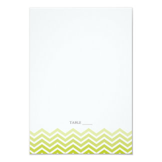 Chevron FOLDABLE Place Cards - Spring Green