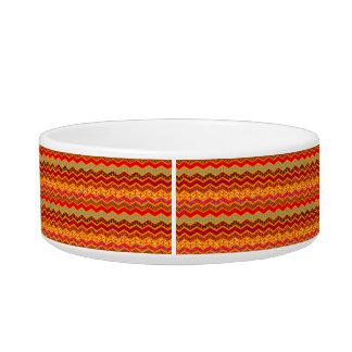 Chevron Geometric Designs Color Orange, Red, Blue2 Bowl