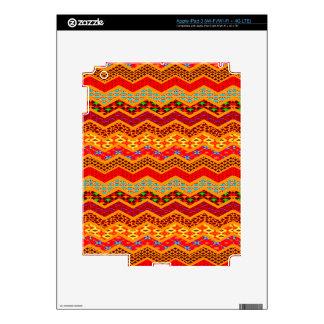 Chevron Geometric Designs Color Orange, Red, Blue2 iPad 3 Skins