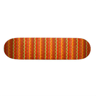 Chevron Geometric Designs Color Orange, Red, Blue2 Skateboard